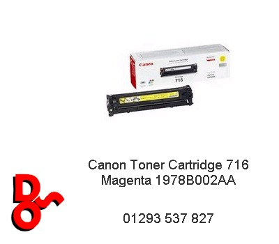 Canon Toner Cartridge 716 Yellow 1977B002AA