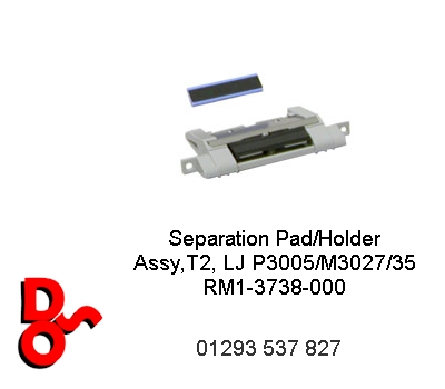 PF Tray 2 Separation Pad/Holder Assy, LJ P3005 RM1-3738-000