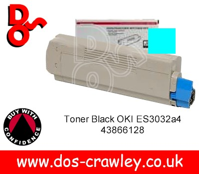 Toner Cyan Genuine OKI ES3032a4, 43866127 replaced by 44318619 - Click Image to Close