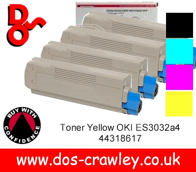 Toner # Rainbow Pack, Black, Cyan, Magenta, Yellow, Oki ES3032a4