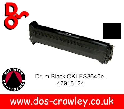 Drum Black Genuine OKI ES3640e - 42918124