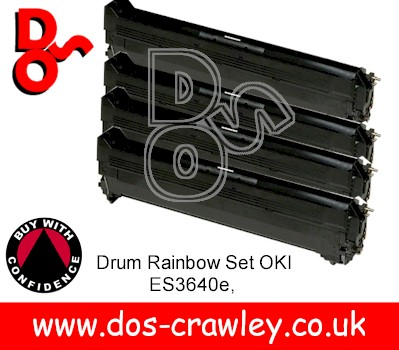 Drum # Rainbow Set Black, Cyan, Magenta, Yellow, Oki ES3640e
