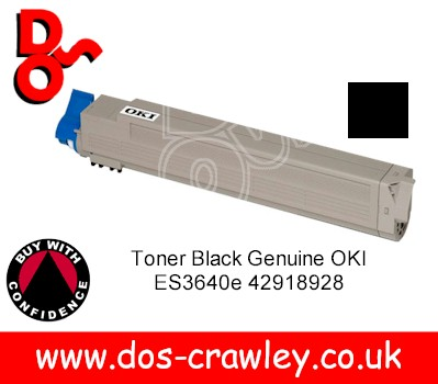 Toner Black Genuine OKI ES3640e 42918928