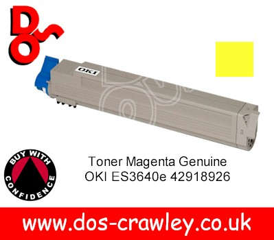 Toner Yellow Genuine OKI ES3640e 42918925