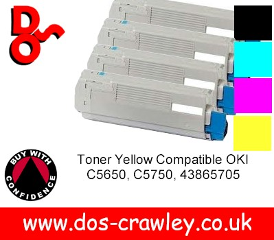Toner Compatible # Rainbow Set OKI C5650, C5750,