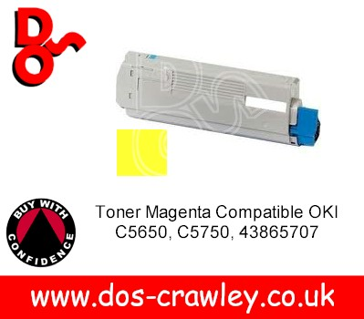 Toner Compatible Yellow OKI C5650, C5750, 43872305