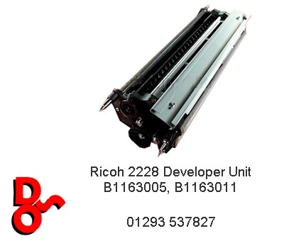 Ricoh 2228 Developer Black Unit B1163005, B1163011