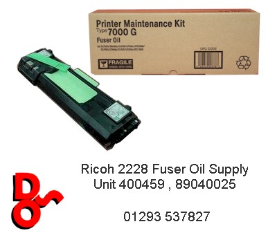 Ricoh 2228 Fuser Oil Supply Unit 400459 , 89040025
