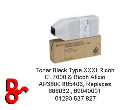 Toner Black Type XXXI CL7000 & AP3800 885406
