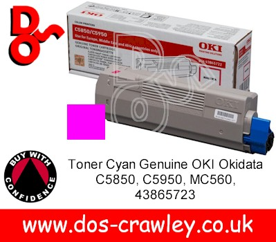 Toner Magenta Genuine OKI C5850, C5950, MC560, 43865722