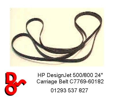 "HP DesignJet 500/800 24"" Carriage Belt C7769-60182"