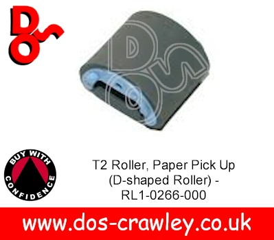 PF T2 Roller, Paper Pick Up (D-shaped Roller) - RL1-0266-000