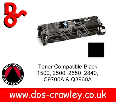Toner Compatible Black 1500, 2500, 2550, 2840, C9700A & Q3960A