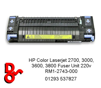 Fuser Unit (Refurbished), HP 2700, 3000, 3600, 3800 RM1-2743-000