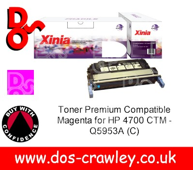 Toner Premium Compatible Magenta for HP 4700 CTM - Q5953A (C)