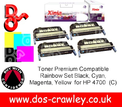 Toner # Premium Compatible Rainbow Set for HP 4700 series