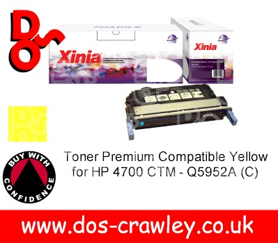 Toner Premium Compatible Yellow for HP 4700 CTM - Q5952A (C)