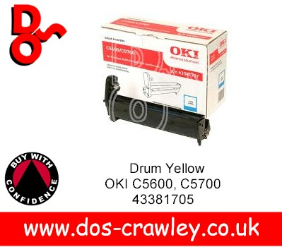 Drum Cyan EP Cartridge, OKI C5600, 5700, 43381707