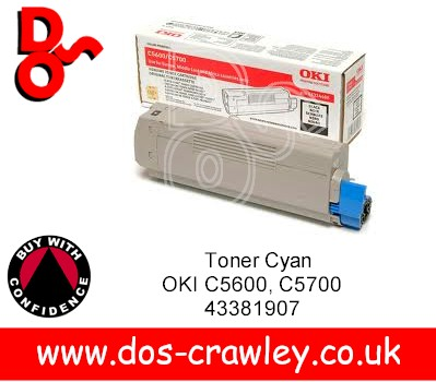 Toner Genuine Black OKI C5600, C5700, 43324408