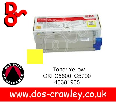 Toner Compatible Yellow OKI C5600, C5700, 43381905