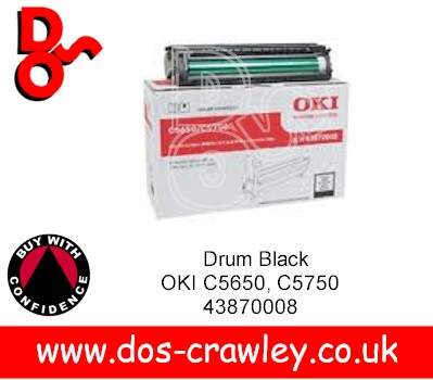 Drum Black EP Cartridge, OKI C5650, C5750, 43870008