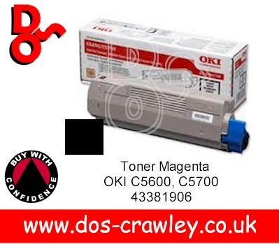 Toner Genuine Black OKI C5650, C5750, 43865708