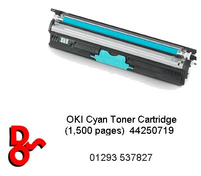 Toner Cyan Compatible for Oki C110, 130, 160 - 44250719