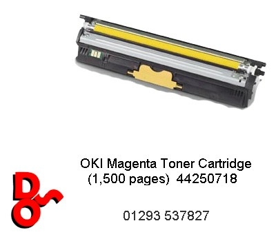 OKI Toner Cartridge Yellow (1,500 pages) 44250717