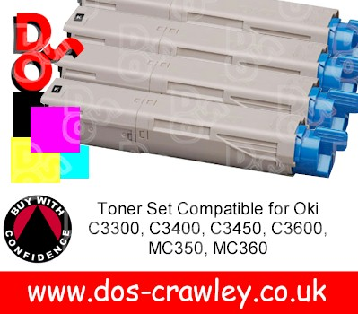 Toner # Rainbow Pack for Oki C3300, C3400, C3450, C3600, MC350,