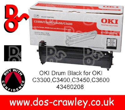 Drum Black Genuine for OKI C3300,C3400,C3450,C3600 - 43460208