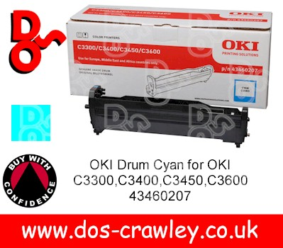 Drum Cyan Genuine for OKI C3300,C3400,C3450,C3600 - 43460207