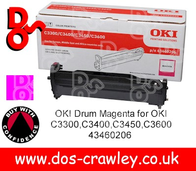 Drum Magenta Genuine for OKI C3300,C3400,C3450,C3600 - 43460206