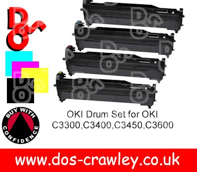 Drum # Rainbow Set Black, Cyan, Magenta, Yellow, Oki C3300