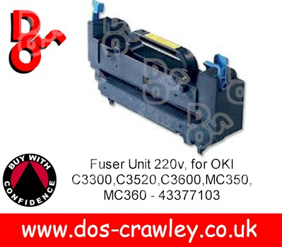 Fuser Unit 220v, OKI C3300,C3520,C3600,MC350,MC360 - 43377103