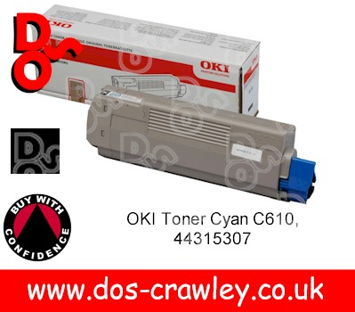 Toner Black OKI C610n (8,000 pages) - 44315308