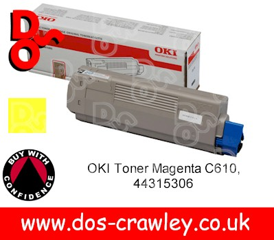 Toner Yellow OKI C610n (6,000 pages) CTY - 44315305