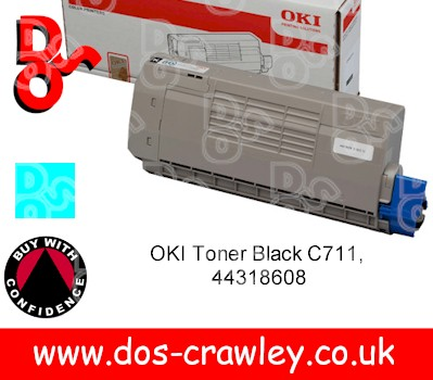 Toner Cyan (11,500 pages) for OKI C710,C711 - 44318607