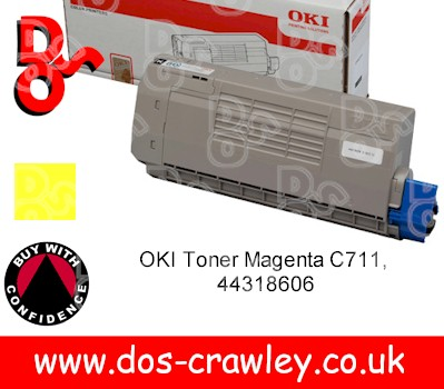 Toner Yellow (11,500 pages) for OKI C710,C711 - 44318605