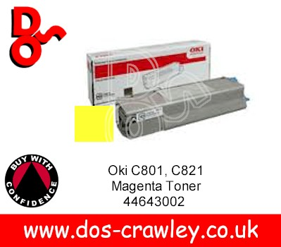 Toner Yellow, OKI C801, C821 44643001