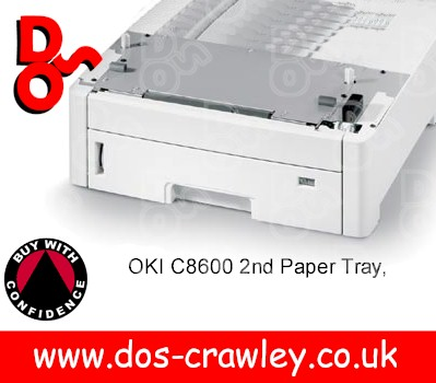 #A OKI 2nd Paper Tray for OKI C8600, C8800, 43231806