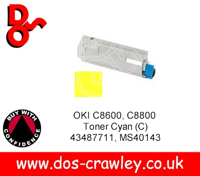 Toner Yellow, OKI C8600, C8800, 43487709
