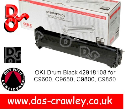 Drum Black Genuine OKI C9600 series - 42918108