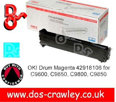 Drum Cyan Genuine OKI C9600 series - 42918107