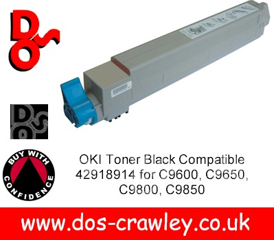 Toner Black Compatible For OKI C9600. 9650, 9800, 9850 - 4291891