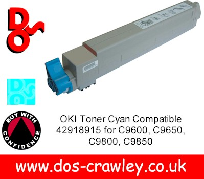 Toner Cyan Compatible For OKI C9600. 9650, 9800, 9850 - 42918915