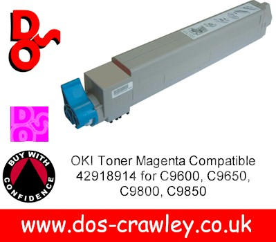 Toner Magenta Compatible For OKI C9600, 9800, - 42918914