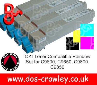 Toner # Rainbow Set Compatible For OKI C9600, 9650, 9800, 9850