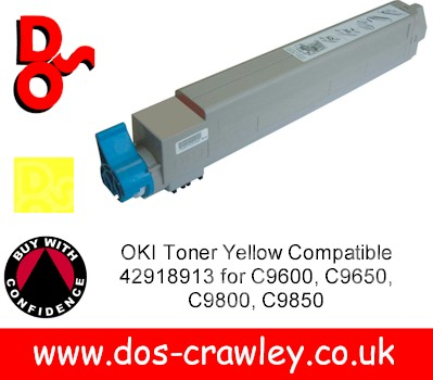 Toner Yellow Compatible For OKI C9600, 9800, - 42918913