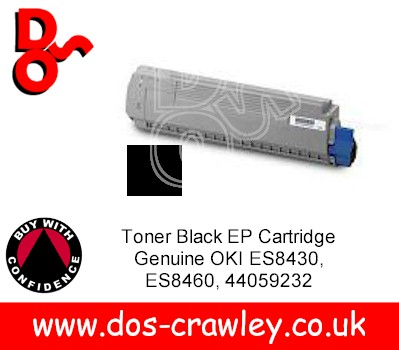 Toner Black Cartridge Genuine OKI ES8430 ES8460, 44059232
