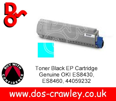 Toner Cyan Cartridge Genuine OKI ES8430 ES8460, 44059231